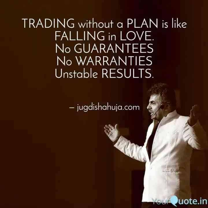 trading without plan